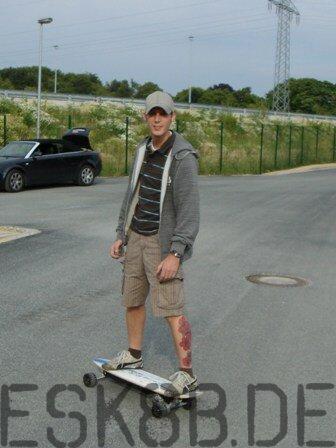 Elektro-Skateboard Hupe-Prototyp