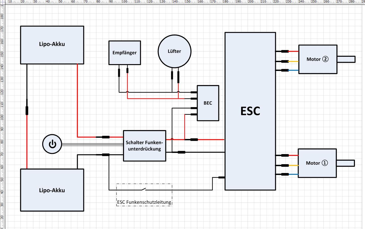 Verkabelung APS mit Eigenbau - APS Alien - elektro-skateboard.de