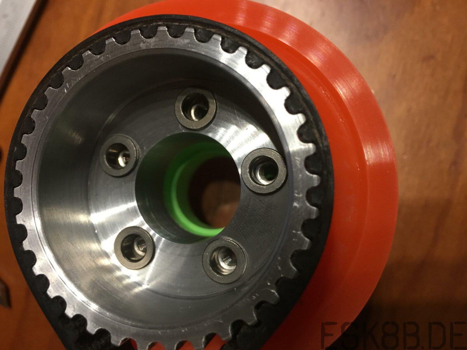 Kegel Wheel Pulley ausgedreht   59g leichter :-))